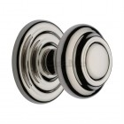 Centre Door Knob Round Design 3 1/2